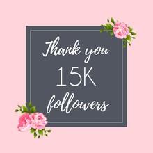 Thank You 15 K Followers Social Media Banner, Post