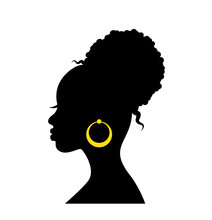 Black Graceful Silhouette Of T...
