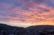 sunset ambience horw and kriens mount pilatus