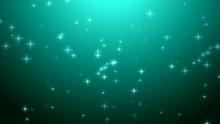 Christmas Teal Green Starry Ba...