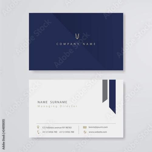 Fotografía Business card flat design vector template