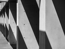 Concrete Columns Architecture Details Modern Building Space Perspective Shade And Shadow Abstract Background