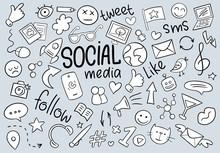 Black And White Social Media D...