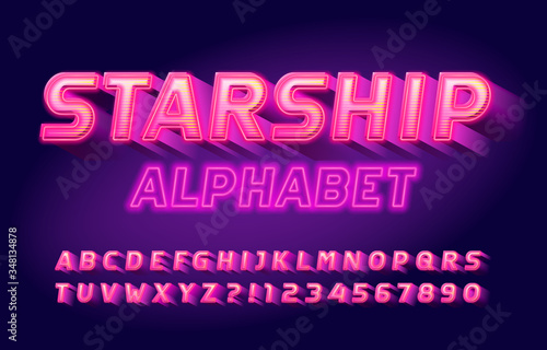 Starship alphabet font Canvas-taulu
