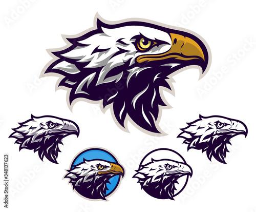 Eagle head emblem Wallpaper Mural