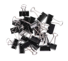 Stationery Metal Binder Clips Isolated