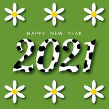 2021. Happy New Year. Vector I...
