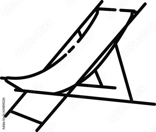 Carta da parati beach chair icon , vector illustration