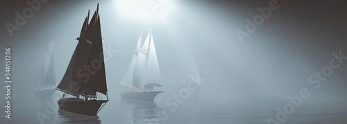 Foto sailboat sailing in the sea