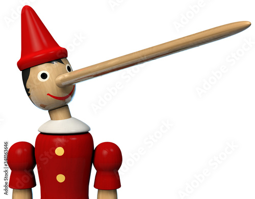 Pinocchio Long Nose Boy Wooden Character Toy Canvas Print