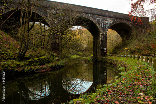 Arch Bridge Over River Against Sky Wallpaper Mural