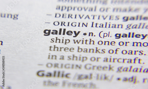 Galley word or phrase in a dictionary. Slika na platnu
