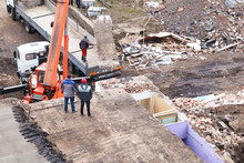 Excavator Working To Get Rid O...