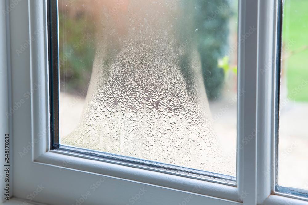 Fototapeta Blown double glazed unit, failed window glazing