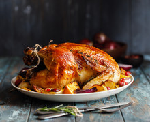 Roast Whole Chicken With Roast...
