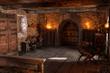 canvas print picture - 3D Rendering Medieval Bedroom
