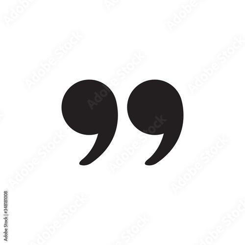 Fotografía quotation marks icon design vector illustration