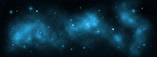 Space Galaxy Background With S...