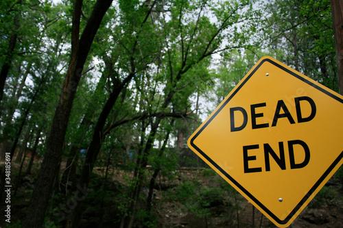 Fotografia Dead End Sign In Forest