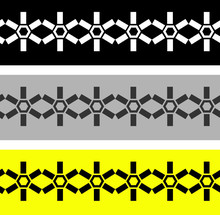 Abstract Geometric Hexagon Pattern Set