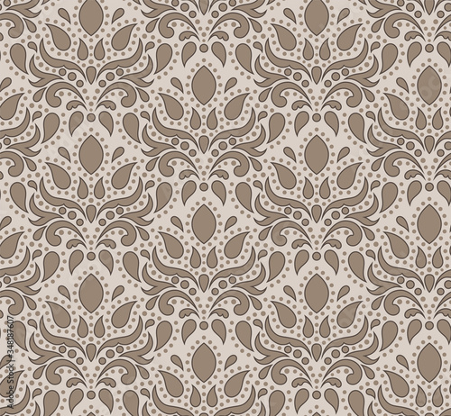 Tapeta beżowa  pattern-beige-in-the-baroque-style-suitable-for-curtains-wallpaper-fabric-tile-wrapping-paper