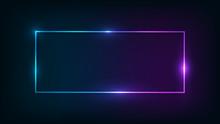 Neon Rectangular Frame With Sh...