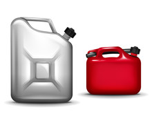 Gasoline Canister Realistic 3D...