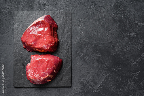 raw steaks fillet Mignon prepared for cooking Billede på lærred