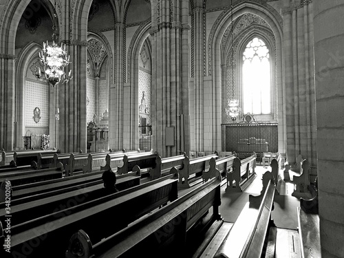Fotografiet Interior Of Cathedral