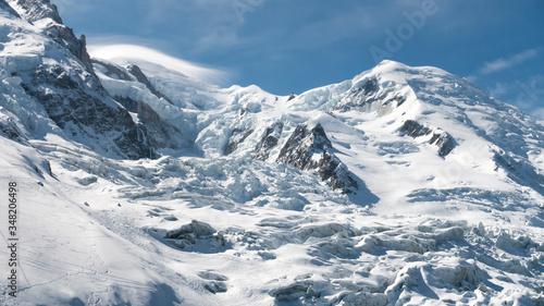 Mont Blanc north face, Bossons glacier Tapéta, Fotótapéta