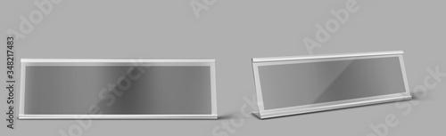 Fotografía Table card holder, empty name plate