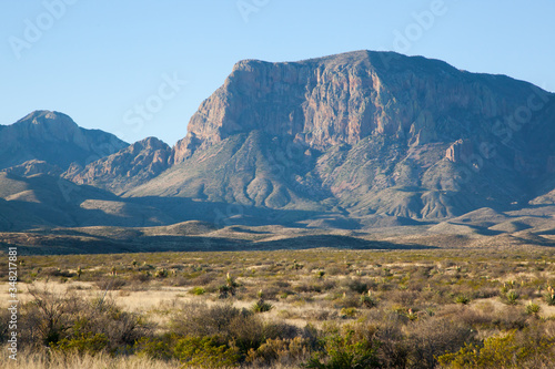 Mountain in the desert of Big Bend National Park