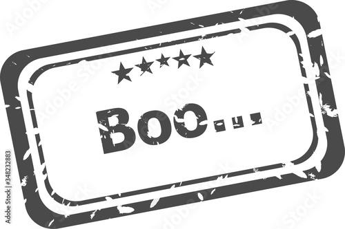 boo grunge rubber stamp isolated on white background Tapéta, Fotótapéta
