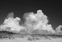 Large Cumulus Clouds Against A...