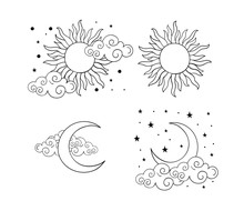 Mystical Boho Tattoos With Sun...