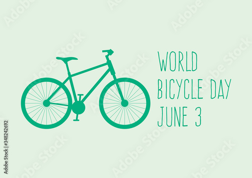 World Bicycle Day vector Wallpaper Mural