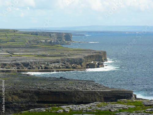 A view over the karst landscape on Inishmore, the largest of the Aran Islands Canvas Print