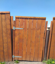 Old Wooden Gate And Fence In A...