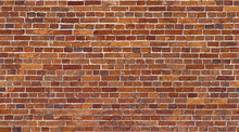 Brick Wall Seamless Texture. Red Stone Pattern Background