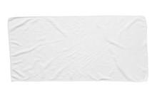 White Beach Towel Isolated White Background
