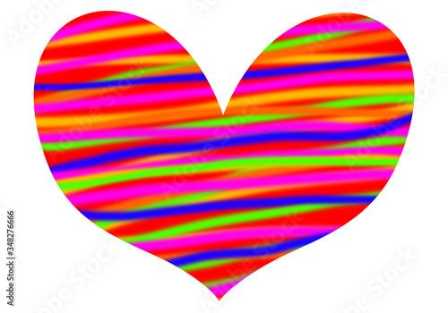 Corazón alegre, vida en colores Canvas Print