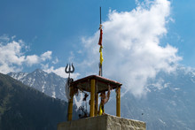 A Hindu Temple At Triund, Dharamsala, India