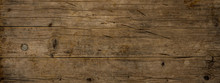 Old Brown Rustic Dark Grunge Weathered Wooden Texture - Wood Background Panorama Long Banner