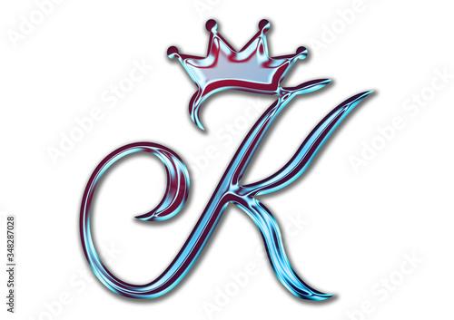 Fotografia, Obraz Schablone, K, Krone, Logo, Design, Abzeichnen, Brief, Ikone