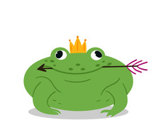 Funny Fat Fairy Toad With An A...