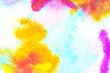 Abstract Watercolour Square Painting Multicolour Mixing Background