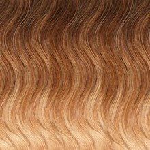 Wavy Ombre Hair Texture From Caramel Brown To Honey Blonde