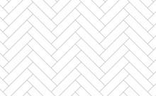 White Herringbone Wall Seamles...