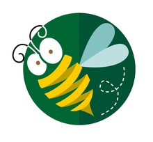 Bee Icon Vector With Yellow Ri...