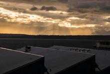 Crepuscular Rays Of Sunlight O...